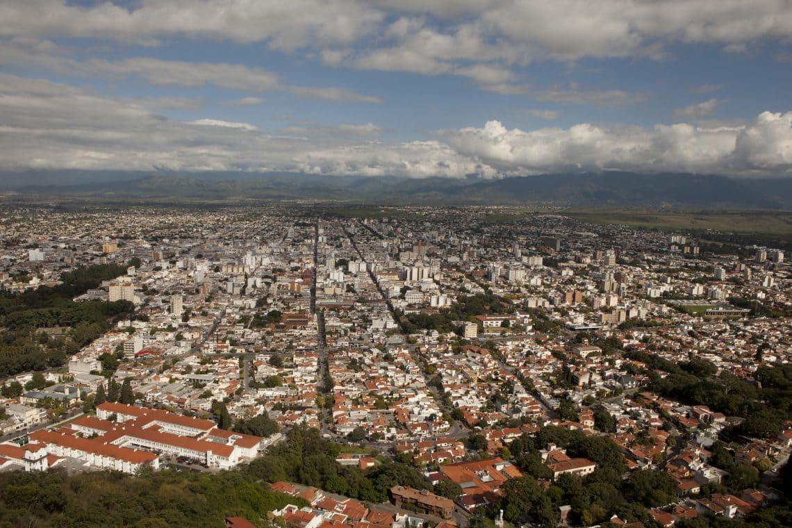 Vista Panorámica de la ciudad de Salta desde el Cerro San Bernardo