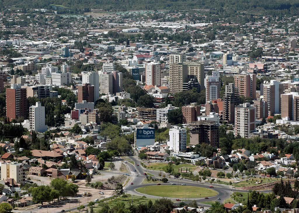 Vista aérea de la Ciudad de Neuquén