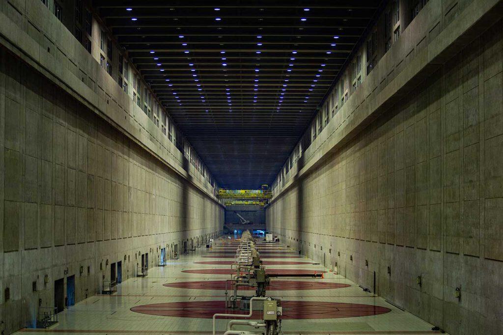Interior de la Represa de Yacyretá