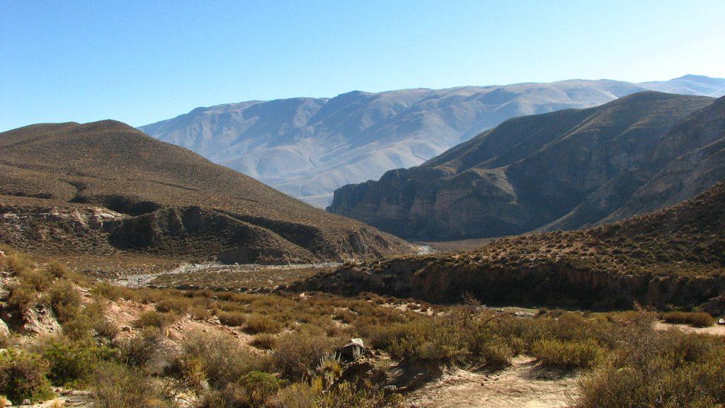 Quebrada en el Infiernillo, Parque Provincial Cumbres Calchaquíes, Tafí del Valle, Tucumán.