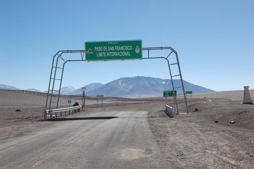 Paso San Francisco entre Argentina y Chile, Catamarca