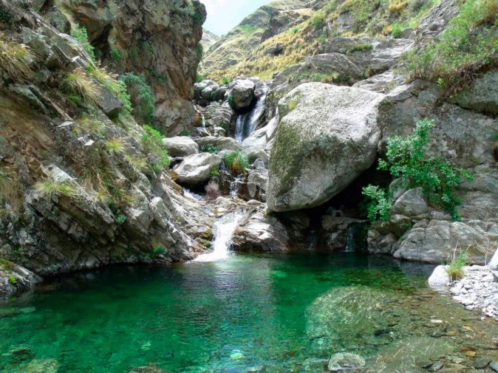 Cascada de los Vencejos, Villa de Merlo