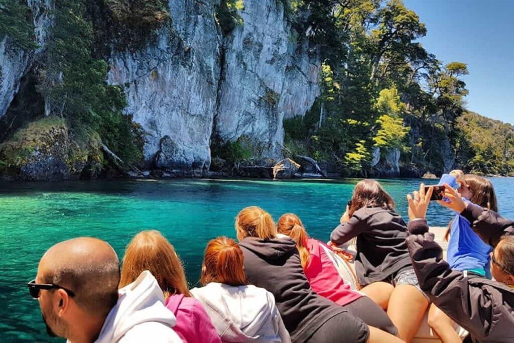 Paseos en lancha al Bosque sumergido del Lago Traful foto:interpatagonia.com.ar