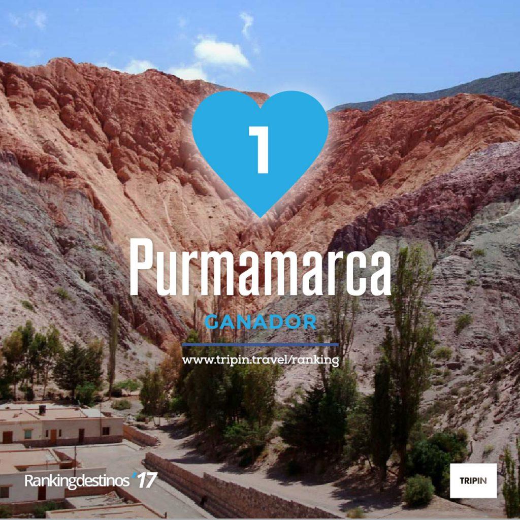 Ranking destinos 2017, Purmamarca ganadora