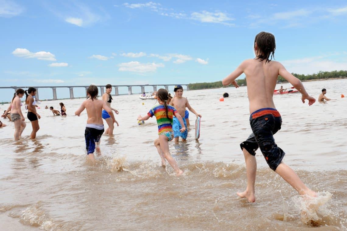 Playa La Florida de Rosario en verano - foto: Municipalidad de Rosario