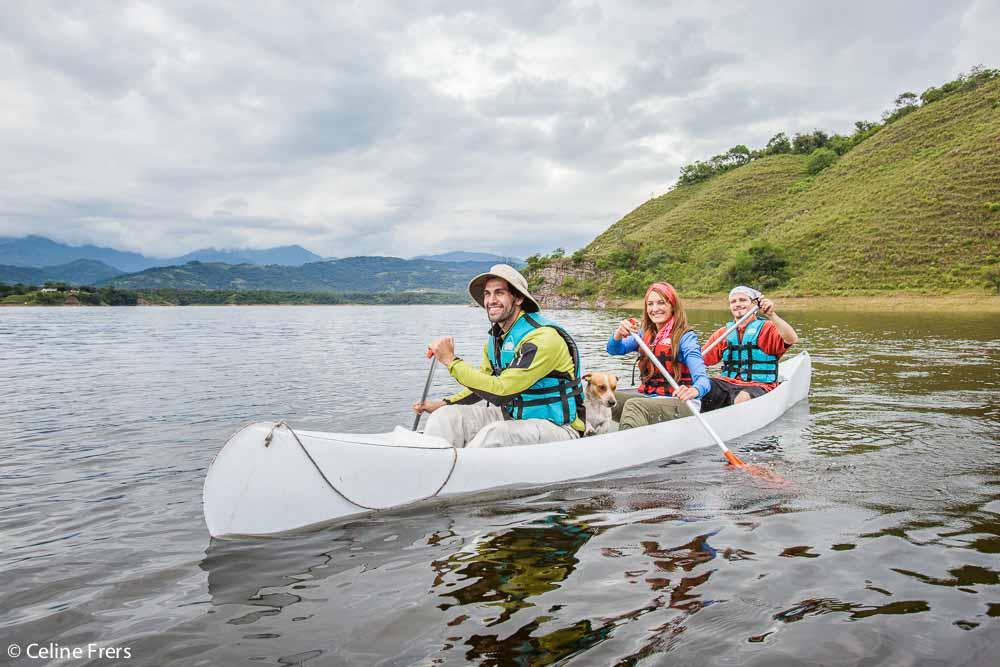 Kayak en Dique Campo Alegre, La Caldera, Salta - foto: Celine Frers