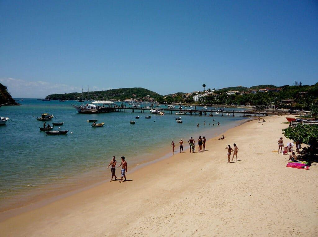 Playa de Armação, Búzios una de las opciones mas visitadas por los turistas