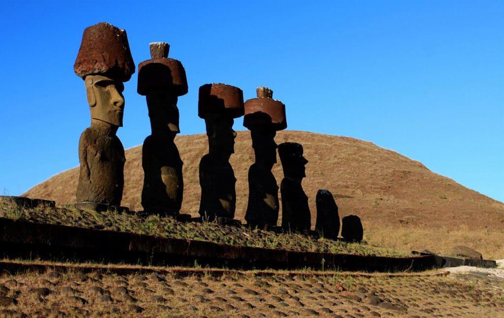 Ahu Nau Nau en Rapa Nui, Isla de Pascua