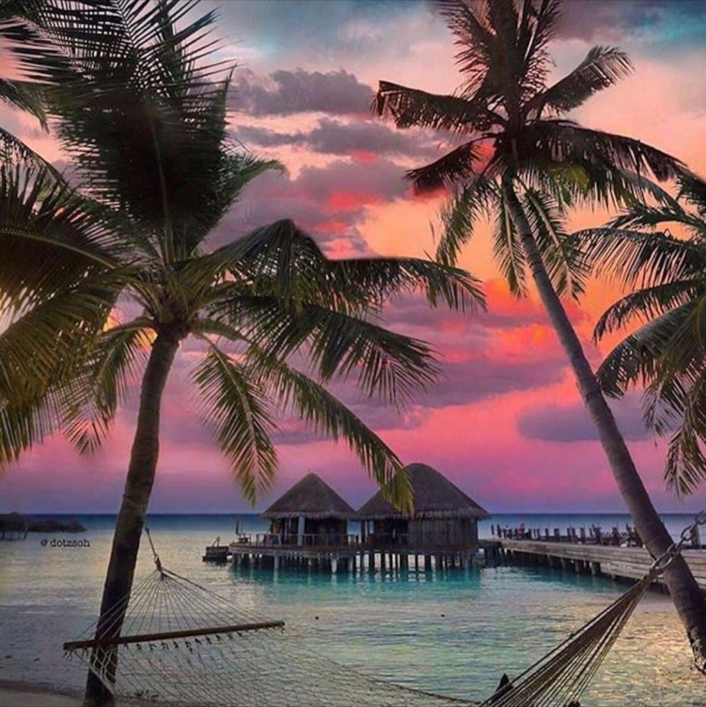 Paisaje único en Maldivas - @dotzoh