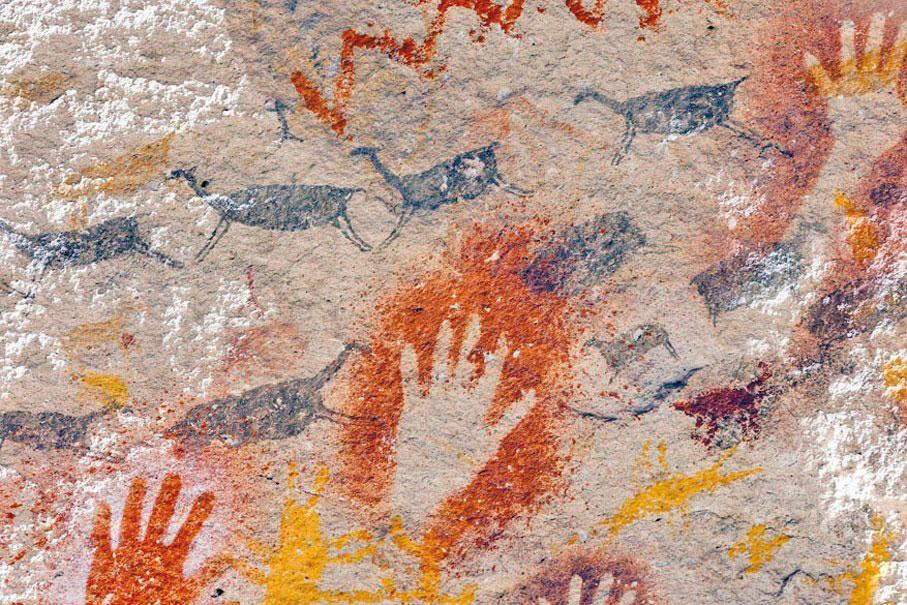 Cueva de las manos, Santa Cruz, Río Pinturas, Patagonia