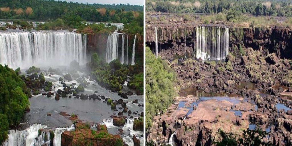 Cataratas del Iguazú sin agua 2020 - foto: Notife.com