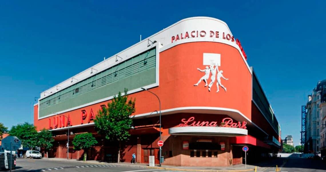 Fachada del Luna Park, ciudad de Buenos Aires