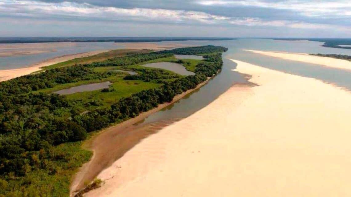 Histórica bajante del Rio Paraná - foto: weekend