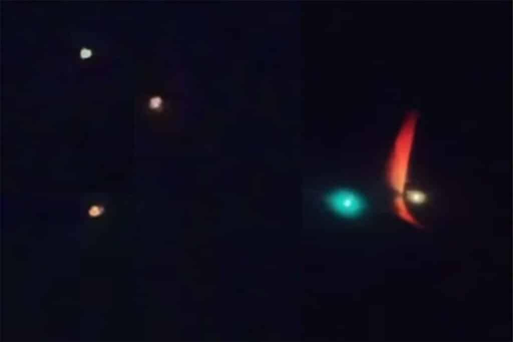 El video de un OVNI escoltando a un avión de Aerolíneas Argentinas fueron grabadas desde la ventanilla misma del avión.
