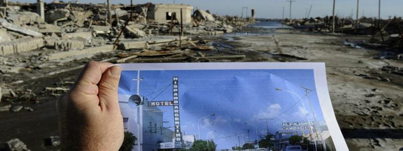 A 30 años de la inundación de la villa turística de Epecuén en la provincia de Buenos Aires