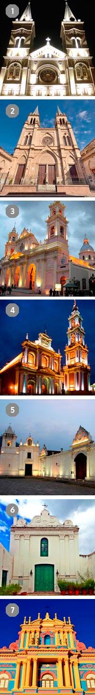 Recorrido pedestre por las 7 iglesias en Salta