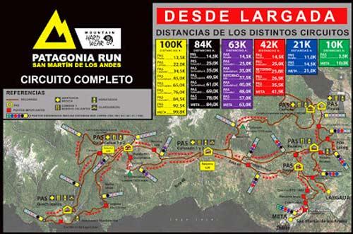 Recorrido de Patagonia run 2013