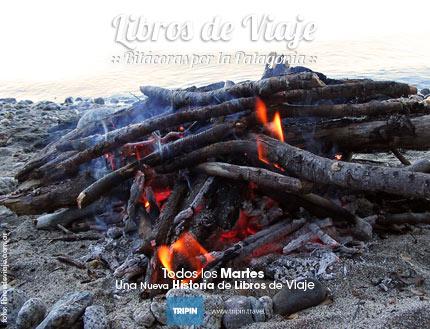 Libros de viaje, la familia que viaja por la Patagonia, acampando en San Martín de los Andes