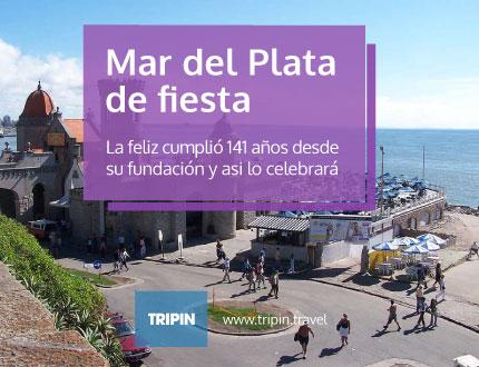 Mar del plata festeja los 141 años de fundacion