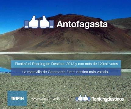 Finalizó el Ranking de Destinos 2013 con más de 120mil votos Antofagasta de la Sierra es el destino top