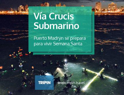 Vía Crucis Submarino en Puerto Madryn, Semana Santa 2017