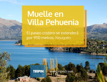 Muelle en Villa Pehuenia, Neuquén