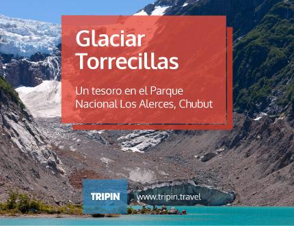 Glaciar Torrecillas y Laguna del Antiguo en el Parque Nacional Los Alerces