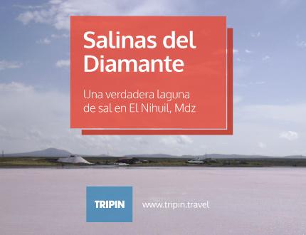 Salinas del Diamante, una verdadera laguna de sal en El Nihuil, MDZ