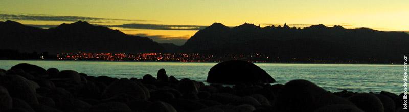 El increible paisaje de la Boca del Limay en Bariloche