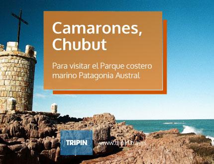Camarones en Chubut, ideal para visitar el parque costero marino Patagonia austral