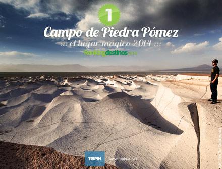 Finalizó el Ranking de Lugares Magicos 2014, y Campo de Piedra Pómez en Catamarca es el lugar magico 2014 de Argentina