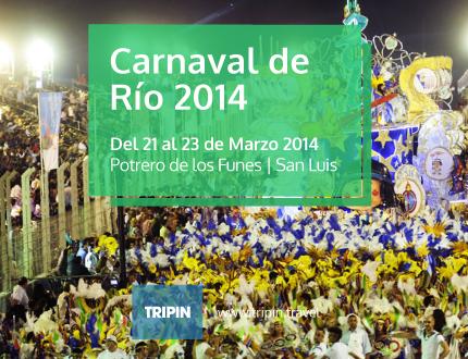 Carnaval de Rio en San Luis, 5ta edición. El festival más grande a cielo abierto en cuyo.