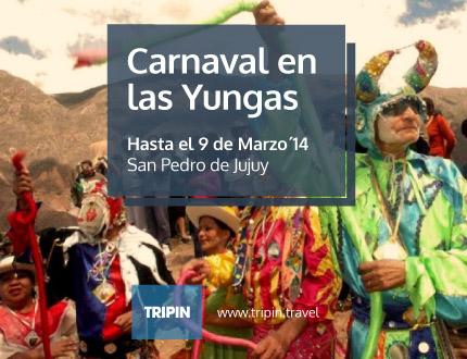Carnaval Nocturno en las Yungas. San Pedro de Jujuy se viste de fiesta todos los fines de semana hasta marzo.