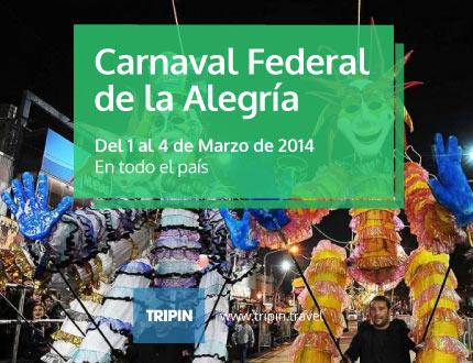 Carnaval federal de la alegria 2014 en todo el país