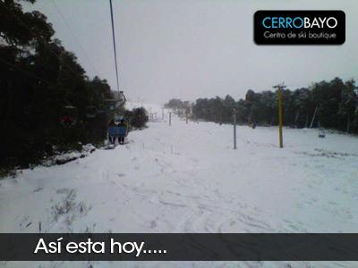 Cerro Bayo repleto de nieve Julio 2012