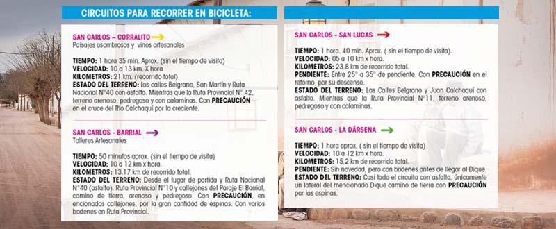 Circuitos para recorrer San Carlos en Bici