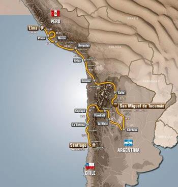 Dakar 2013 recorrido
