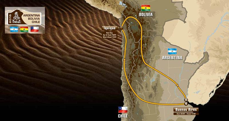 El recorrido del Dakar 2015