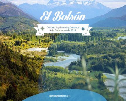 El Bolsón, el destino top del ranking destinos 2015