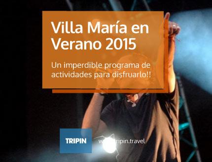 Villa María y un programa completisimo de actividades para el verano 2015