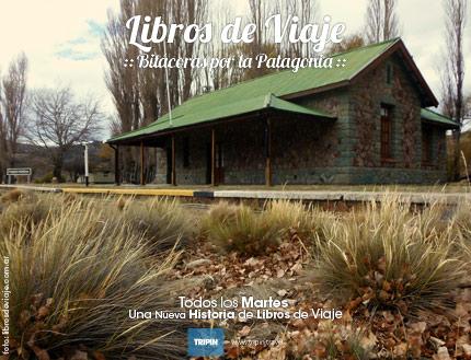 El tren patagonico, cruza la increible estepa patagonica en busca de la cordillera. Libros de Viaje.