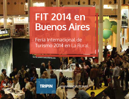 FIT 2014 en Buenos Aires. La feria internacional de turismo en La Rural.
