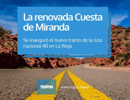Se inauguraron las obras en uno de los tramos más impactacten de la ruta 40 : La cuesta de miranda en La Rioja