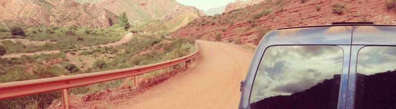 Asi lucía la Ruta Nacional 40 en la Cuesta de Miranda!