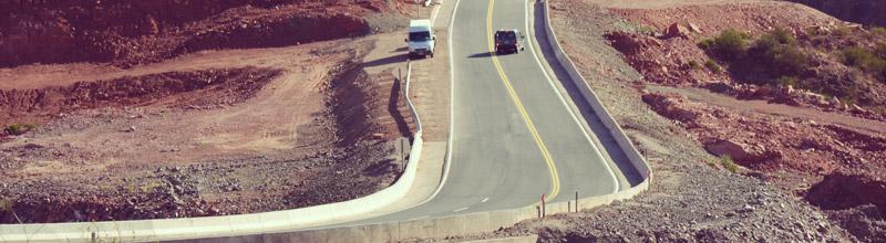 Así luce la ruta 40 en la Cuesta de Miranda, La Rioja