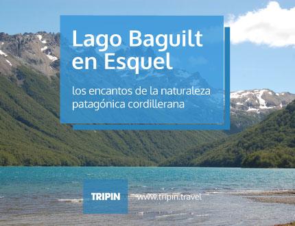 Lago Baguilt en Esquel, los encantos de la naturaleza de la cordillera patagonica