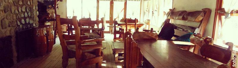 El salón del camping del Lago Gutierrez, lugar de mágicos encuentros