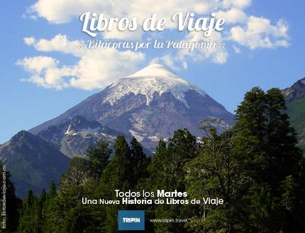 Libros de viaje en el Volcan Lanin, con una leyenda muy especial