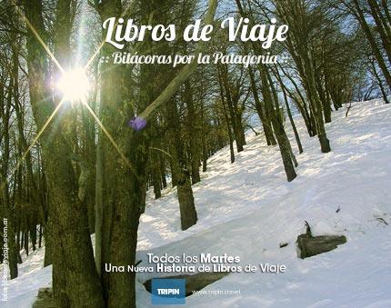 Libros de la Viajes, disfrutando la nieve de primavera en la Patagonia