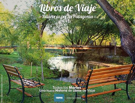 Libros de viaje en el Motorhome Eco Parking en el arroyo Nant & Fall, Chubut